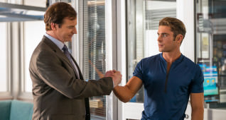 (L-R) Rob Huebel as Captain Thorpe and Zac Efron as Matt Brody in the film BAYWATCH by Paramount Pictures, Montecito Picture Company, FlynnPicture Co., and Fremantle Productions