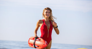 Kelly Rohrbach as CJ Parker in the film BAYWATCH by by Paramount Pictures, Montecito Picture Company, FlynnPicture Co., and Fremantle Productions