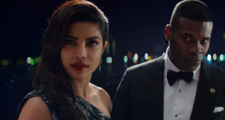 (L-R) Priyanka Chopra as Victoria Leeds, and Amin Joseph as Frankie in the film BAYWATCH by Paramount Pictures, Montecito Picture Company, Flynn Picture Co., and Fremantle Productions