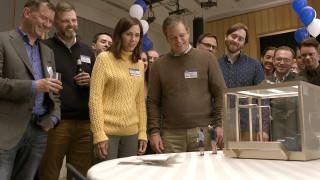 (Main Cast) Kristen Wiig plays Audrey Safranek, Matt Damon plays Paul Safranek, Maribeth Monroe plays Carol Johnson and Jason Sudeikis plays Dave Johnson in Downsizing from Paramount Pictures.