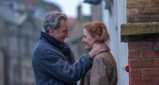 "Daniel Day-Lewis stars as ""Reynolds Woodcock"" and Vicky Krieps stars as ""Alma""